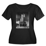 Tower Theatre Women's Plus Size Scoop Neck Dark T-