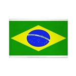 Brazil Blank Flag Rectangle Magnet (10 pack)
