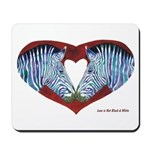 Love is Not Black & White Mousepad with Text