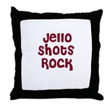 Jello Shots Rock Throw Pillow