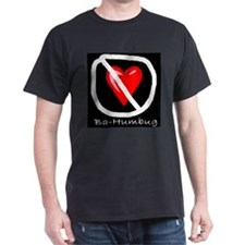 Anti-Valentine Ba-Humbug Black T-Shirt