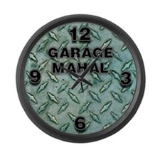 Garage Mahal Steel Plate Large Wall Clock