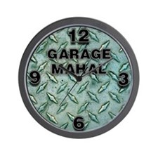 Garage Mahal Steel Plate Wall Clock