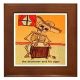 The Drummer and his cigar. Framed Tile