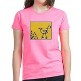 rabbits watch big chicken - Womens T-Shirt (+cols)