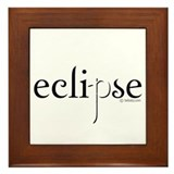 Eclipse Black and White by Twibaby Framed Tile