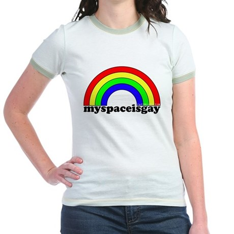 myspaceisgay Jr. Ringer T-Shirt