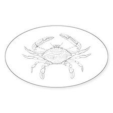 Blue Crab Art Decal
