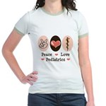 Peace Love Pediatrics D.O. Jr. Ringer T-Shirt