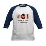 Peace Love Pediatrics D.O. Kids Baseball Jersey
