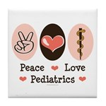 Peace Love Pediatrics D.O. Tile Coaster