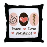 Peace Love Pediatrics D.O. Throw Pillow