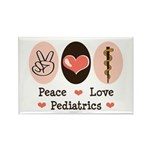 Peace Love Pediatrics D.O. Rectangle Magnet (100 p