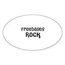 Freebases Rock Oval Decal