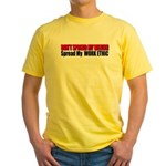 Don't Spread My Wealth Yellow T-Shirt