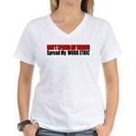 Don't Spread My Wealth Women's V-Neck T-Shirt