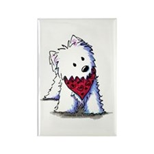 Kissing Bandit Westie Rectangle Magnet (100 pack)