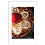 Red Charro Hat Large Poster
