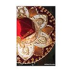 Red Charro Hat Mini Poster Print
