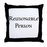 Reasonable Person Throw Pillow