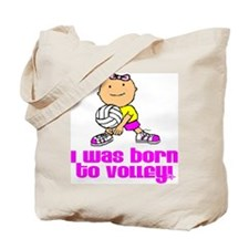 Born to Volley Isabella Tote Bag