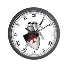 Knights Templar Wall Clock