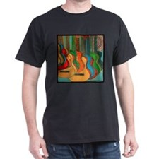 Strings Black T-Shirt