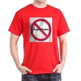 NO Aspartame Allowed Black T-Shirt