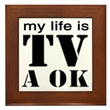 TV A OK Framed Tile