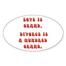 Love Is Grand Oval Decal