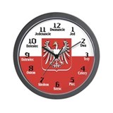 Polish Flag / Seal Wall Clock
