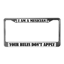 Funny I Am A Musician License Plate Frame