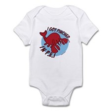 Pinched in P.E.I. Infant Bodysuit