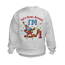 Clown Around 1st Birthday Sweatshirt