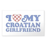 I Love My Croatian Girlfriend Decal
