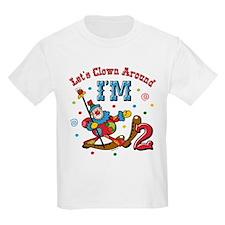 Clown Around 2nd Birthday T-Shirt