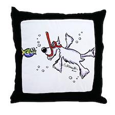 Snorkel Schnauzer Throw Pillow