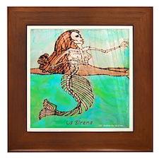 La Sirena Framed Tile