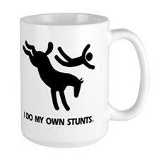 Horse I Do My Own Stunts Ceramic Mugs
