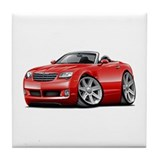 Crossfire Red Convertible Tile Coaster