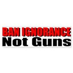 Ban Ignorance Sticker (Bumper)