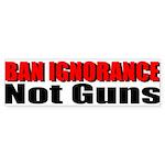 Ban Ignorance Sticker (Bumper)