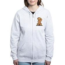 Longhair Dachshund Lover Zip Hoodie
