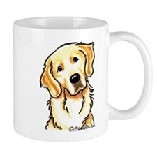 Golden Retriever Portrait Small Mug