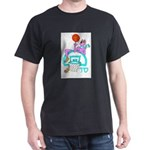 SABRA DOG(Basketball)Jewish Black T-Shirt
