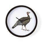 Turkey Standard Bronze Hen Wall Clock
