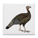 Turkey Standard Bronze Hen Tile Coaster