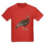 Turkey Standard Bronze Hen Kids Dark T-Shirt