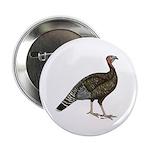 """Turkey Standard Bronze Hen 2.25"""" Button"""
