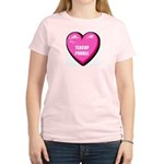 I Love My Teacup Poodle Women's Pink T-Shirt